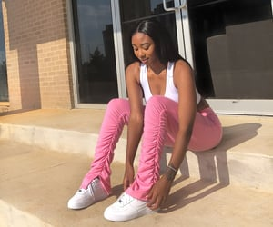 outfit, pink, and ootd image