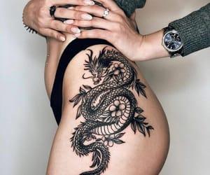 tattoo, dragon, and fashion image
