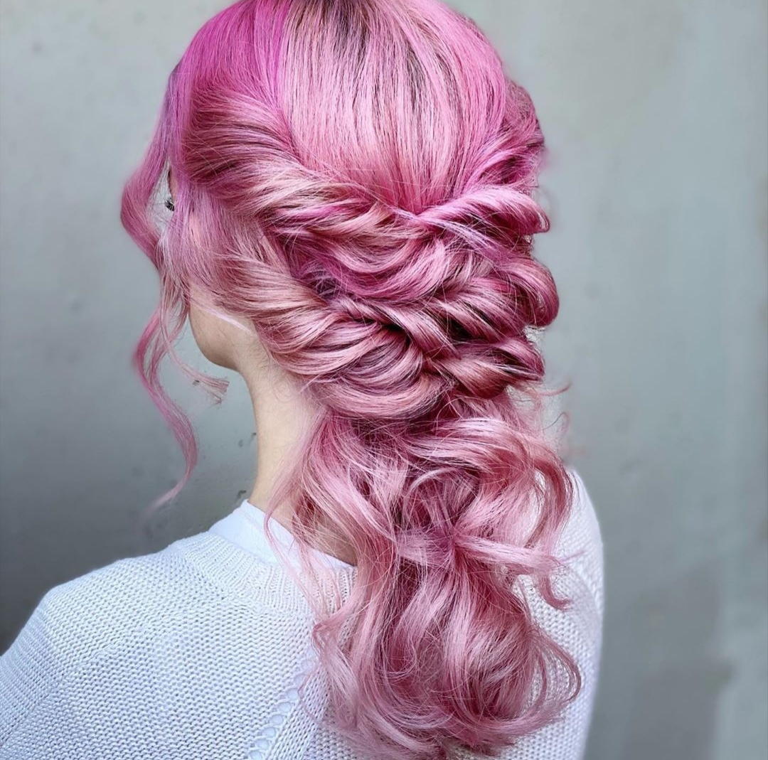 beautiful, braid, and color image