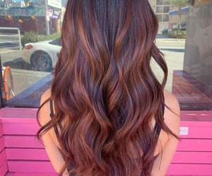 beautiful, brunette, and color image