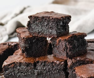 brownies, food, and chocolate image