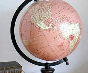 pink, world, and globe image