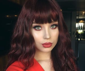 beautiful girl, curly, and red hair image