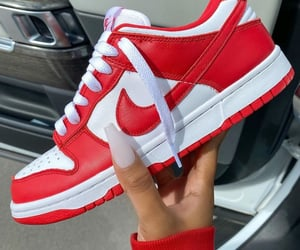 nails, nike, and red image