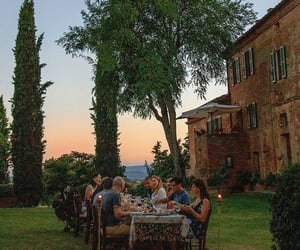 dinner, Tuscany, and friends image