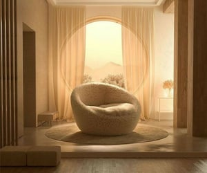 architecture, couch, and beige image