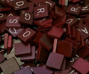 aesthetic, maroon, and scrabble image