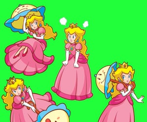 editing, overlay, and princess peach image