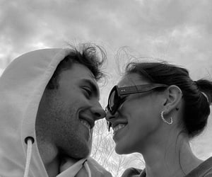 black & white, black and white, and couples image