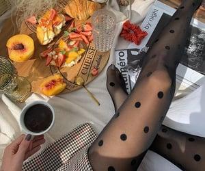 peach, coffee, and fashion image