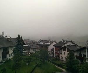 fog, foggy, and Houses image