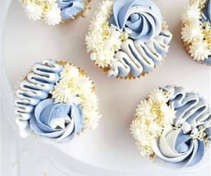 blue, blue and white, and food image