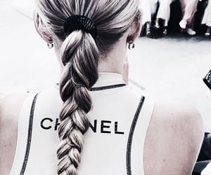 blond hair, chanel, and hairstyle image