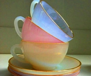 cup, pastel, and tea image