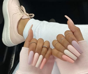 nails, nike, and sneakers image