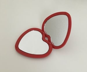 heart, mirror, and red image