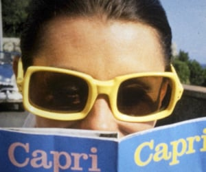summer, capri, and reading image