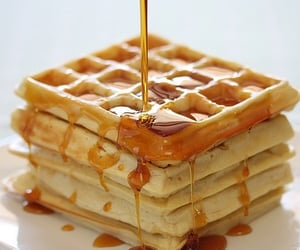 article, food, and waffles image
