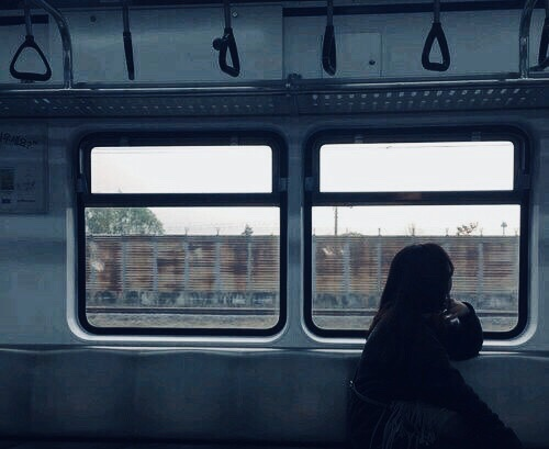 blue, grunge, and lonely image