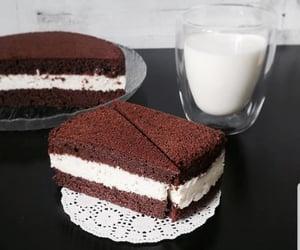 chocolate, food, and milk image