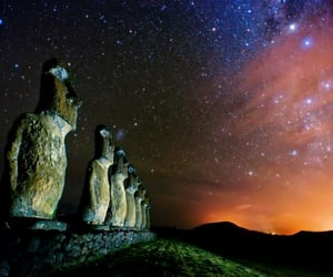 chile, statues, and easter island image