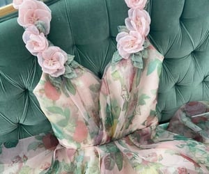 dress, flower, and colors image