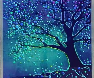 art, magic, and tree image