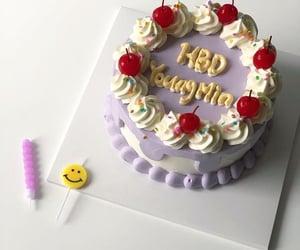cake, korean, and violet image