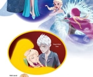anna, jack frost, and tangled image