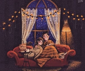 aesthetic, cozy, and fairylights image