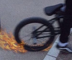 bike, fire, and alternative image