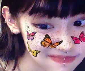 butterfly, theme, and girl image