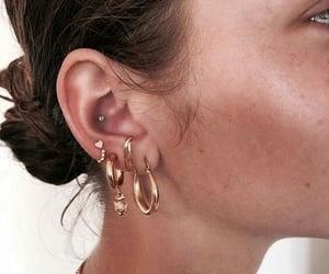 earrings, girl, and jewellery image