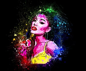 abstract, popart, and arianagrandeartwork image