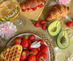 food, strawberry, and avocado image