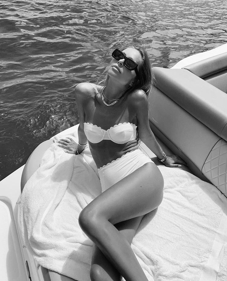 black and white, tanning, and summer image