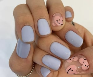 nails, hearts, and beauty image
