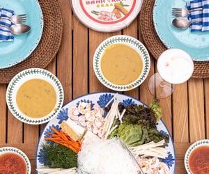 dinner, spring rolls, and shrimp image