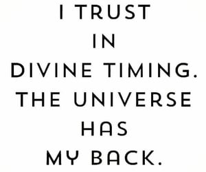 faith, timing, and universe image