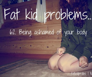chubby, fat kid, and insult image