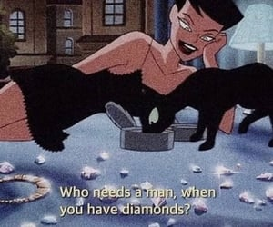 cartoon, quotes, and diamonds image