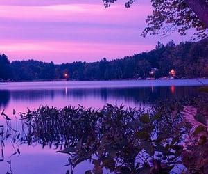 purple, aesthetic, and lake image