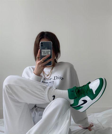 aesthetic, nike, and white image