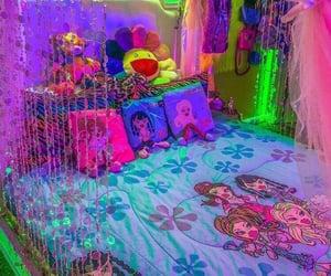bedroom, aesthetic, and neon image