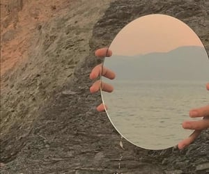 mirror, aesthetic, and sea image