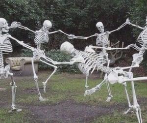 dark, grunge, and skeleton image