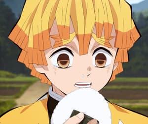 anime, kny, and zenitsu image
