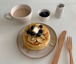 blueberry, pancakes, and aesthetic image