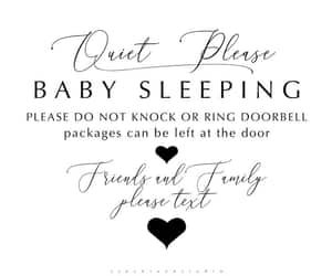 baby shower gift, printable jpg pdf, and do not disturb image