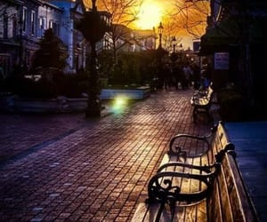 street, photography, and bench image